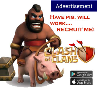 Clash of Clans on iOS and Android app stores